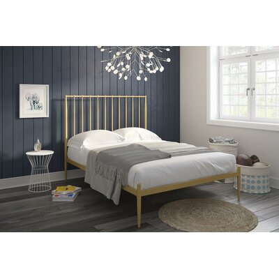 Rebello Platform Bed Size: Full, Color: Gold