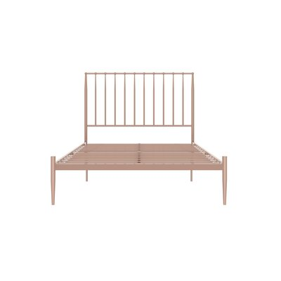 Rebello Platform Bed Size: Full, Color: Millennial Pink