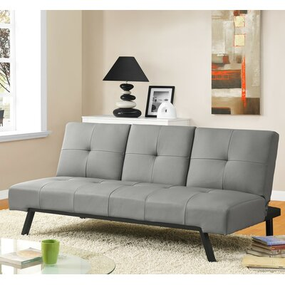 Wynn Cupholder Convertible Sofa Upholstery: Gray