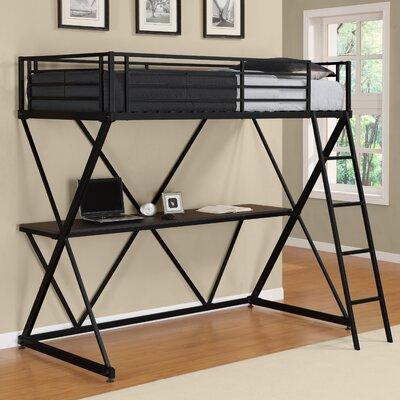Metal Loft   Desk on Dorel Home Products X Shaped Loft Bunk Bed