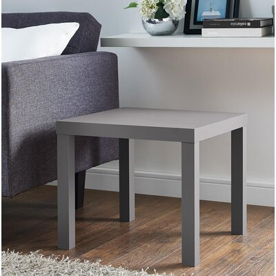 Carissa End Table Color: Dark Gray