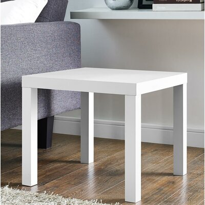 Carissa End Table Color: White