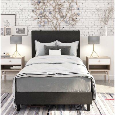 Pulliam Modern Upholstered Panel Bed Size: Twin