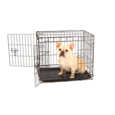 Hollymead Double Door Pet Crate Size: Small