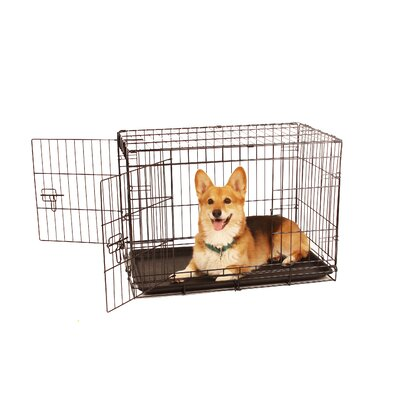 Double Door Pet Crate Size: Medium