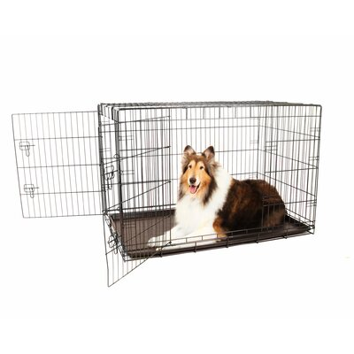 Hollymead Double Door Pet Crate Size: X-Large