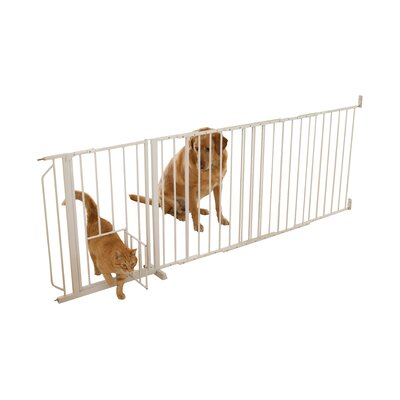 Guillermo Maxi Pet Gate with Pet Door Size: 38 H x 60 W