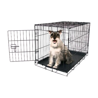 Single Door Pet Crate Size: Medium