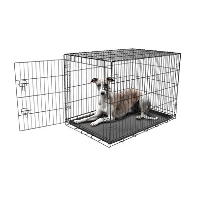 Single Door Pet Crate Size: Large