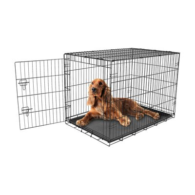 Hippocrates Single Door Pet Crate Size: Intermediate