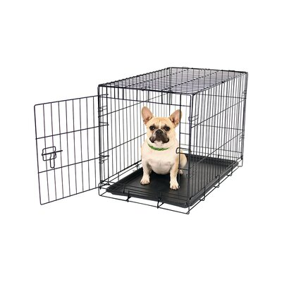 Hippocrates Single Door Pet Crate Size: Small