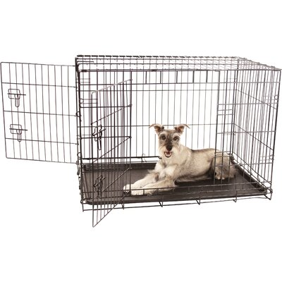 Double Door Pet Crate Size: Intermediate