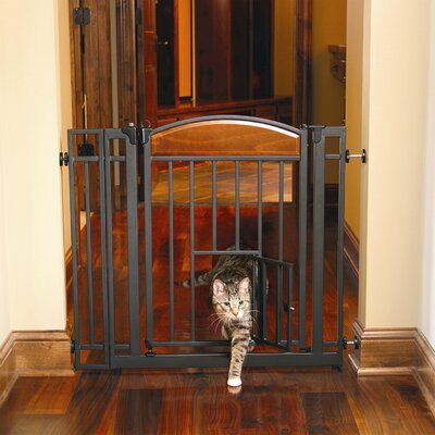 Gayle Design Studio Walk Through Pet Gate with Small Pet Door