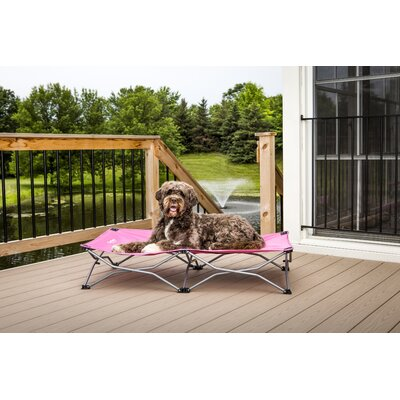 "Portable Pup Travel Dog Cot Color: Pink, Size: Large (48"" L x 26"" W) 8015"