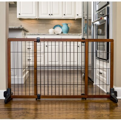 28 Wood Free Standing Pet Gate