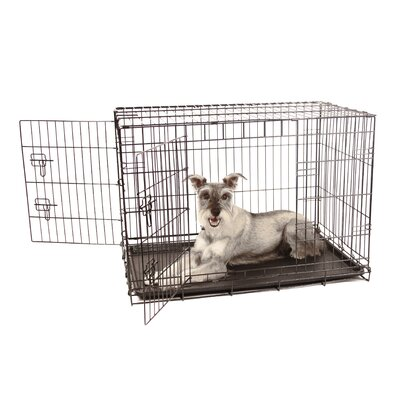 Hollymead Double Door Pet Crate Size: Intermediate
