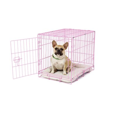 Deluxe Pet Crate Color: Pink
