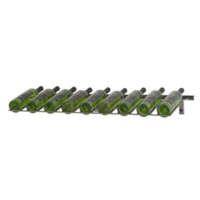 Wall Series 9 Bottle Wall Mounted Wine Rack Finish: Black Chrome