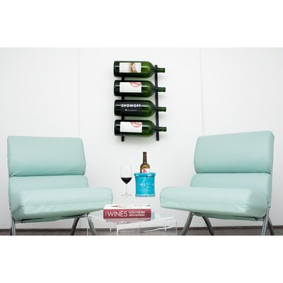 Wall Series 4 Big Bottle Wall Mounted Wine Rack Color: Black