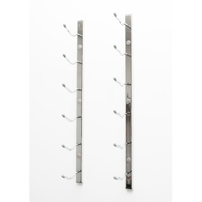 6 Bottle Wall Mounted Wine Rack Finish: Chrome