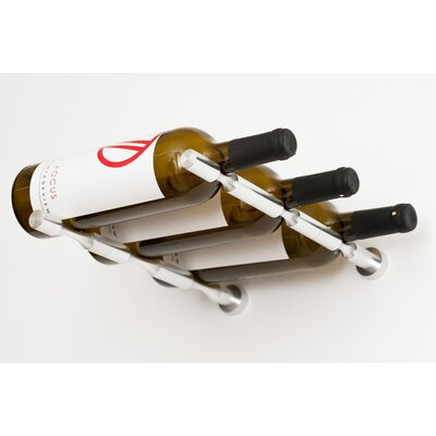 Vino Pin Series 3 Bottle Wall Mounted Wine Rack Finish: Silver