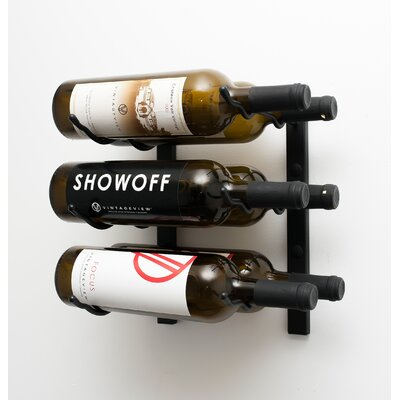 Wall Series 6 Bottle Wall Mounted Wine Rack Finish: Satin Black