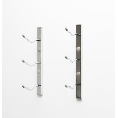 Wall Series 3 Bottle Wall Mounted Wine Rack Finish: Chrome