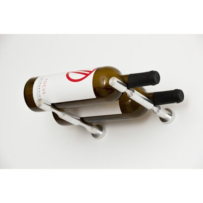 Vino Pin Series 2 Bottle Wall Mounted Wine Rack Finish: Silver