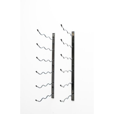 Wall Series 18 Bottle Wall Mounted Wine Rack Finish: Black Chrome