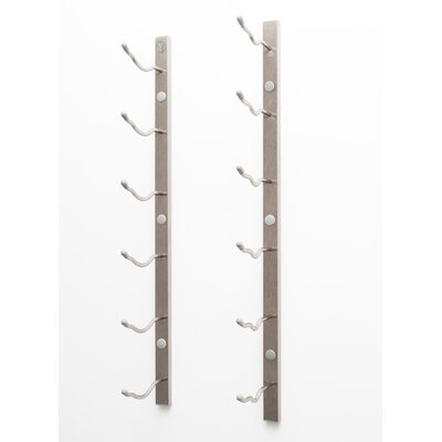 6 Bottle Metal Wall Mounted Wine Rack Finish: Brushed Nickel