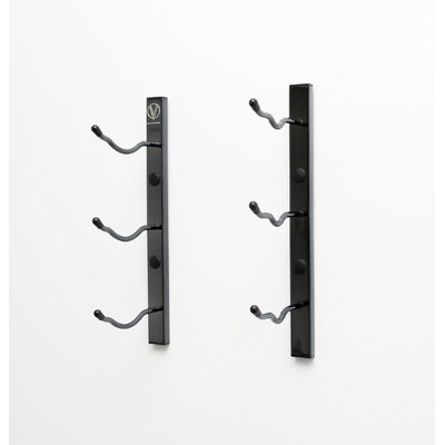 Wall Series 3 Bottle Wall Mounted Wine Rack Finish: Black Chrome