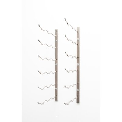 Wall Series 18 Bottle Wall Mounted Wine Rack Finish: Brushed Nickel