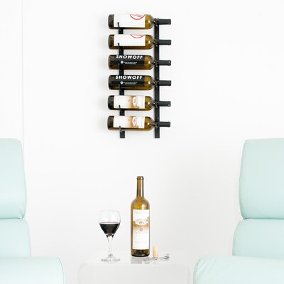 6 Bottle Wall Mounted Wine Rack Finish: Satin Black