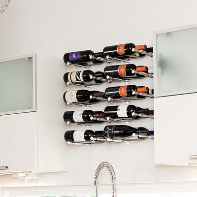 Vino Pin Series 1 Bottle Wall Mounted Wine Rack (Set of 2) Finish: Silver