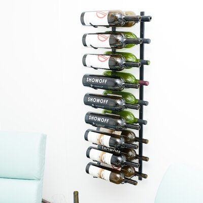 Wall Series 18 Bottle Wall Mounted Wine Rack Finish: Satin Black
