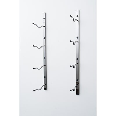 Wall Series 4 Big Bottle Wall Mounted Wine Rack Color: Black Chrome
