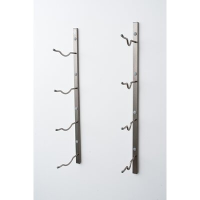 Wall Series 4 Big Bottle Wall Mounted Wine Rack Color: Brushed Nickel