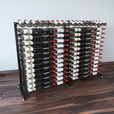 IDR Series 468 Bottle Floor Wine Rack Finish: Black