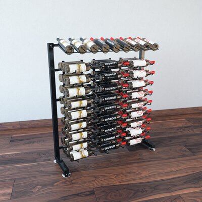 IDR Series 90 Bottle Floor Wine Rack Finish: Black