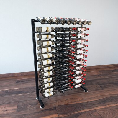 IDR Series 117 Bottle Floor Wine Rack Finish: Black