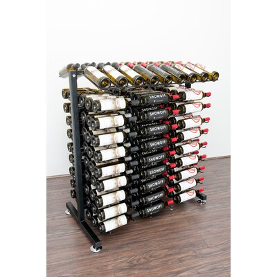 IDR Series 180 Bottle Floor Wine Rack Finish: Black