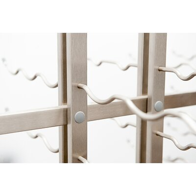 IDR Series 117 Bottle Floor Wine Rack Finish: Brushed Nickel