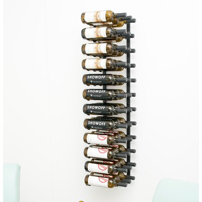 Wall Series 36 Bottle Wall Mounted Wine Rack Finish: Satin Black