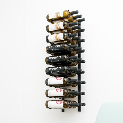 27 Bottle Metal Wall Mounted Wine Rack Finish: Satin Black