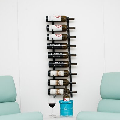 Wall Series 9 Bottle Wall Mounted Wine Rack Finish: Satin Black
