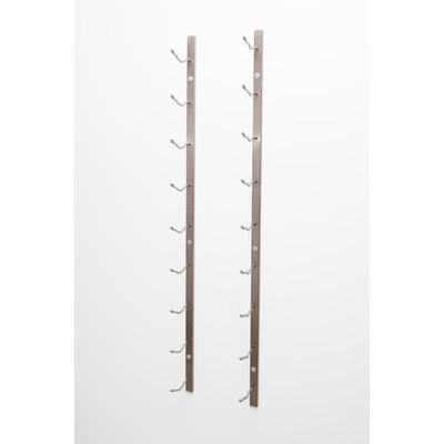 Wall Series 9 Bottle Wall Mounted Wine Rack Finish: Brushed Nickel