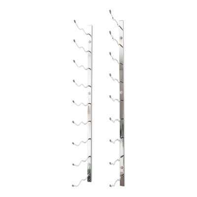 Wall Series 18 Bottle Wall Mounted Wine Rack Finish: Chrome