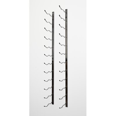 24 Bottle Wall Mounted Wine Rack Finish: Black Chrome