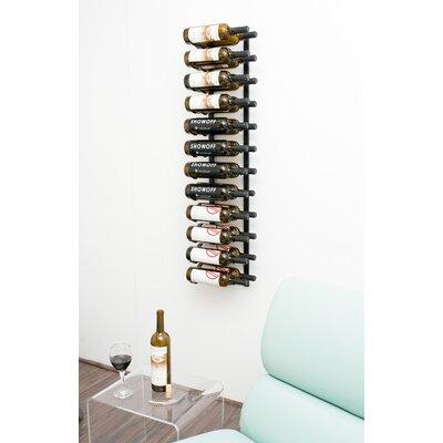 24 Bottle Metal Wall Mounted Wine Rack Finish: Satin Black