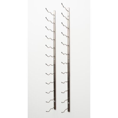 24 Bottle Wall Mounted Wine Rack Finish: Brushed Nickel